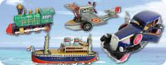 Blechauto, Blechflugzeug, Blechschiff, Blechmotorrad