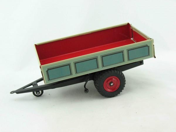 Traktor Anhänger Kipper, blau von KOVAP - Blechspielzeug