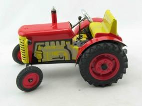 Traktor Zetor rot von KOVAP - Blechspielzeug