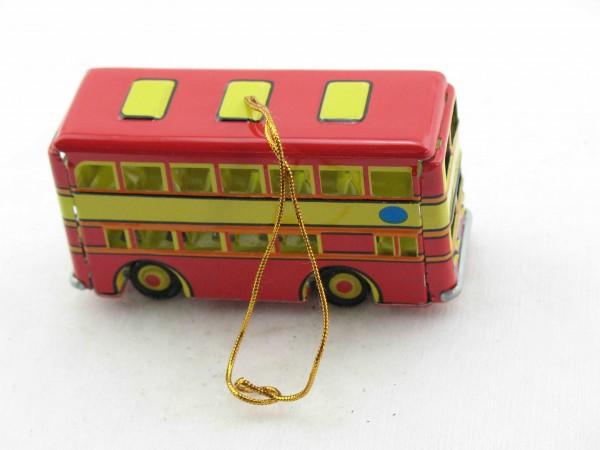 Blechspielzeug - Deko-Doppeldecker Bus