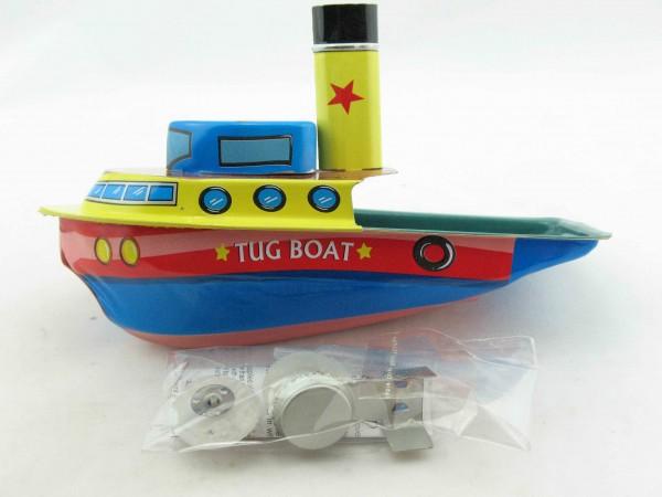 Blechspielzeug - Kerzenboot, Pop Pop Boot Tug/Schlepper