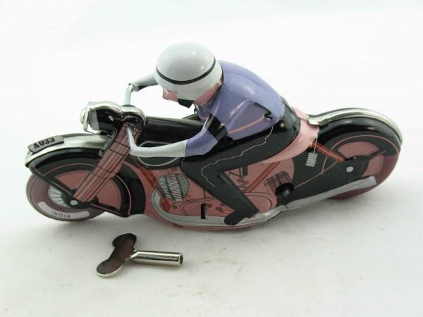 Blechspielzeug - Motorrad Motoracer Classic schwarz