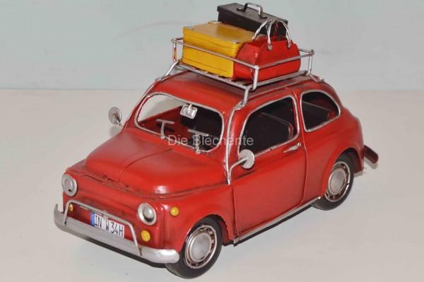 Blechmodell - Fiat 500 mit Koffer 1960
