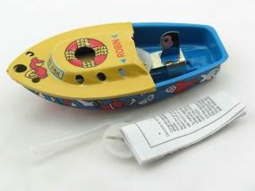 Blechspielzeug - Pop Pop Boot, Kerzenboot Robin