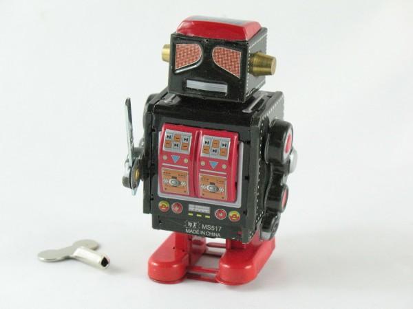 Blechspielzeug - Roboter schwarz - rot