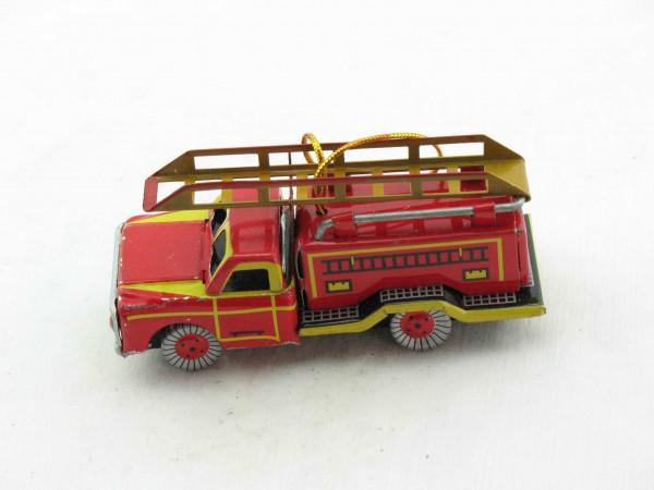 Blechspielzeug - Deko-Feuerwehr Leiterwagen