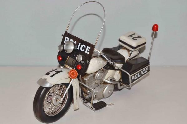 Blechmodell - US-Motorrad Harley Polizei