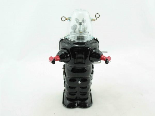 Blechspielzeug - Roboter Space Trooper mit Glashelm, schwarz