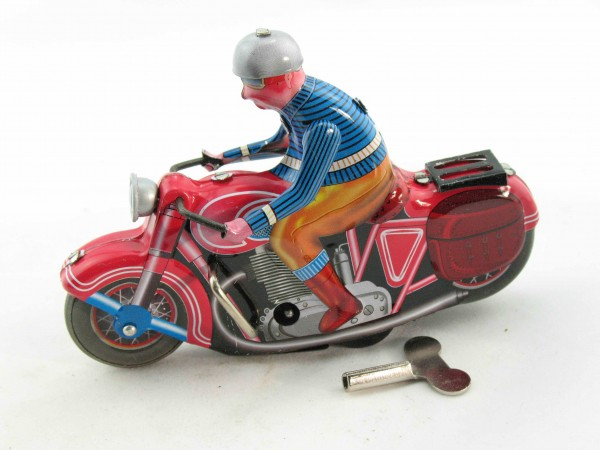 Blechspielzeug - Motorrad solo rot, TCO Nachbau