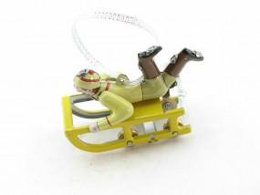 Blechspielzeug - Deko Schlitten mit Jungen