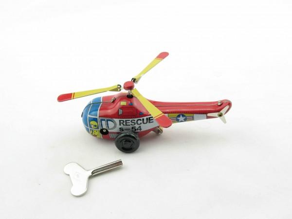 Blechspielzeug - Rescue Helikopter, klein mit Uhrwerk