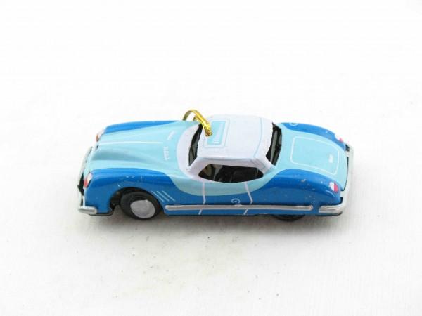 Blechspielzeug - Deko-Sportwagen blau