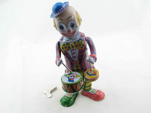 Blechspielzeug - Clown trommelnd