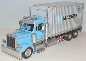 Blechmodell - LKW, US-Truck, Container Lastwagen