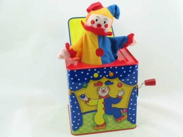 Blechspielzeug - Jack in the Box Jester der Clown