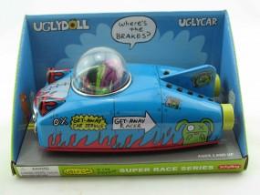 Blechspielzeug - Rennwagen, Auto space Car UGLYDOLL Ox, blau