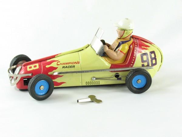 Blechspielzeug - Auto Champion Racer #98, 23cm gelb/rot