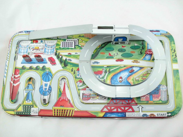 Blechspielzeug - Autobahn Highway Set