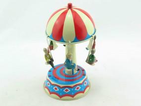 Blechspielzeug - Pilzkarussell mit Kindern D