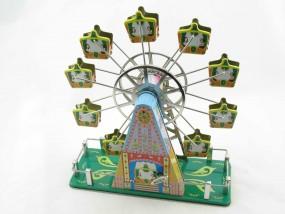 Blechspielzeug - Riesenrad mit Musik grün