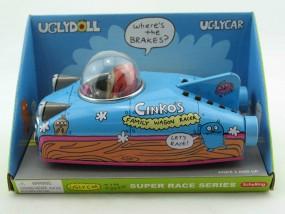 Blechspielzeug - Rennwagen, Auto space Car UGLYDOLL Cinkos, blau
