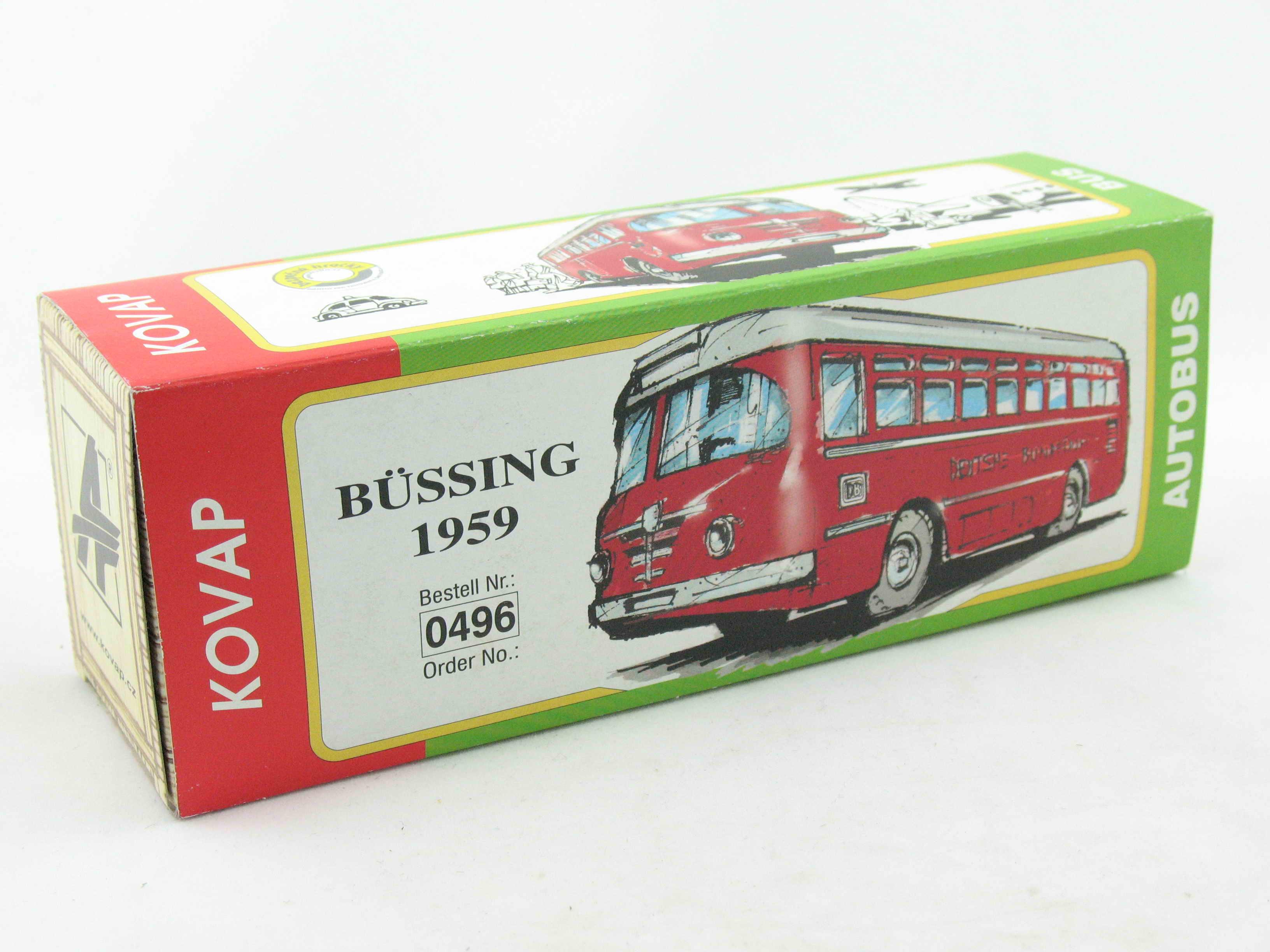 Antikspielzeug Bus Büssing 1959 Deutsche Bundesbahn 1:43 Kovap Box