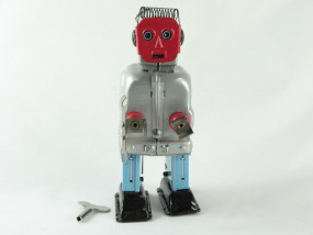 Blechspielzeug - Roboter red Face