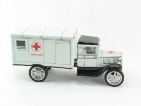 Hawkeye LKW Ambulanz, weiß von KOVAP - Blechspielzeug