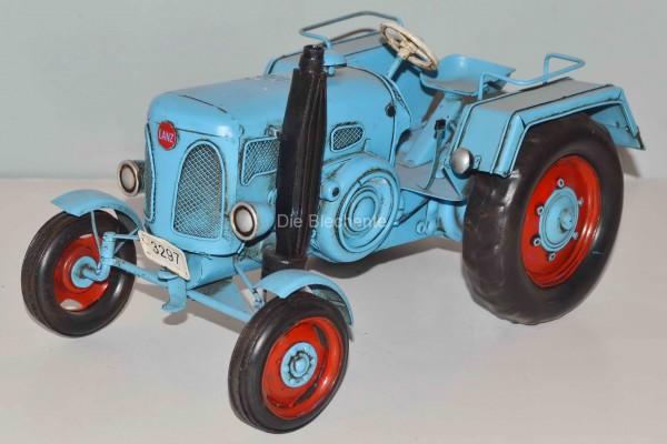 Blechmodell - Traktor, Schlepper Lanz blau 1955 ca. 26 cm