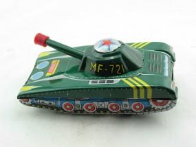 Blechspielzeug - Panzer MF-721 mit Fahrer