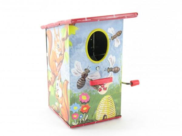 Blechspielzeug - Vogelspardose Bienenhaus