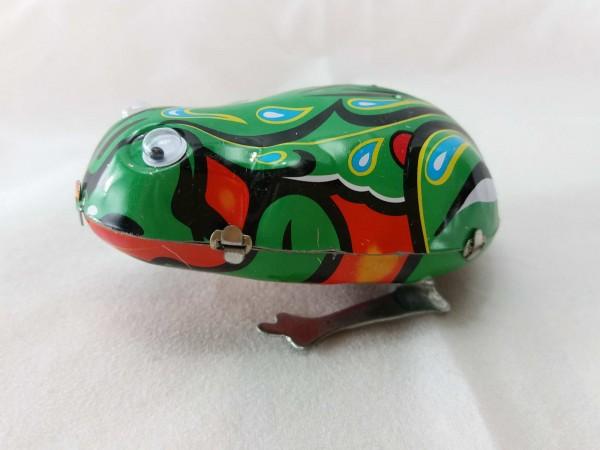 Blechspielzeug - Blechfrosch mit Augen