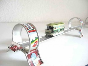 Blechspielzeug - Zug Eisenbahn Bavarian Tram