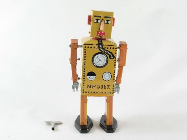 Blechspielzeug - Roboter, 16 cm, Lilliput klein gelb