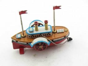 Blechspielzeug - Deko-Raddampfer