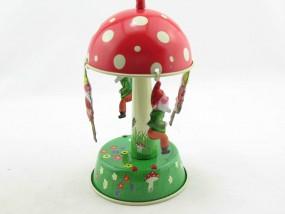 Blechspielzeug - Pilzkarussell mit Zwergen D