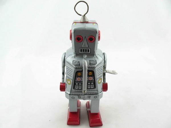 Blechspielzeug - Roboter Space Robot, 20 cm silber