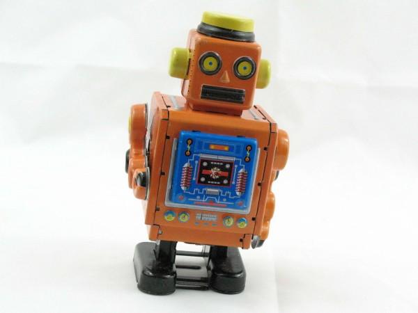 Blechspielzeug - Roboter orange