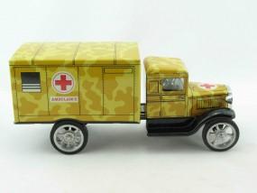 Hawkeye LKW Ambulanz, sandfarben von KOVAP - Blechspielzeug