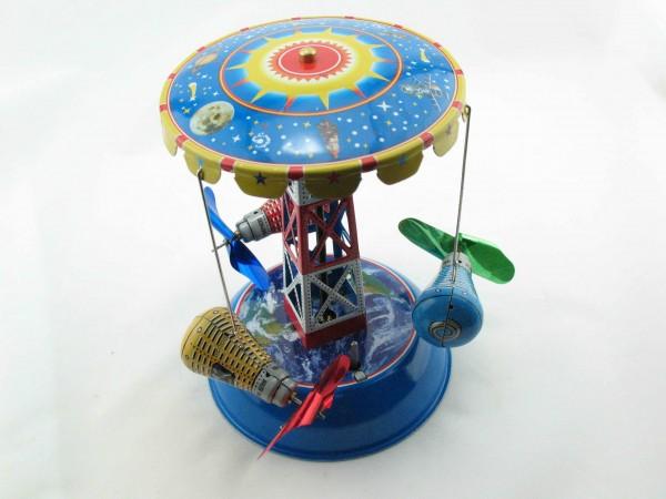 Blechspielzeug - Karussell Space mit Raumkapseln