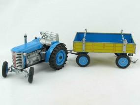 Traktor ZETOR mit Anhänger, blau, Neuheit 2015 von KOVAP - Blechspielzeug