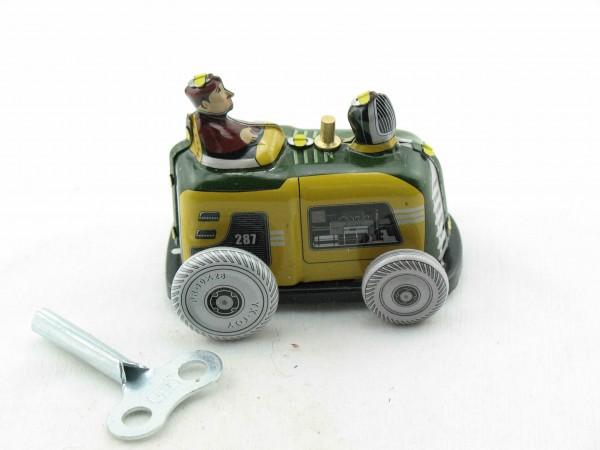 Blechspielzeug - Traktor aus Blech gelb-grün