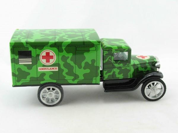 Hawkeye LKW Ambulanz, grün von KOVAP - Blechspielzeug
