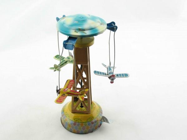 Blechspielzeug - Karussell mit Flugzeugen