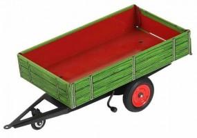 Traktor Anhänger Kipper, grün von KOVAP - Blechspielzeug