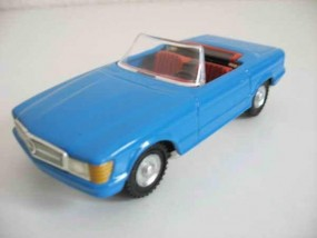 Mercedes SL Cabrio, CKO Replica, blau von KOVAP - Blechspielzeug