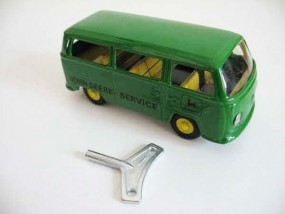VW Bus JOHN DEERE, CKO Replica von KOVAP - Blechspielzeug