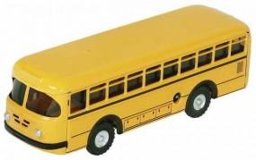 Bus Büssing 1959 mit Uhrwerk gelb von KOVAP - Blechspielzeug