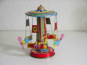 Blechspielzeug - Karussell mit Raumschiffen RR Schylling