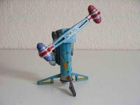 Blechspielzeug - Roboter Karussell RAKETEN-RITT, Rocket Ride